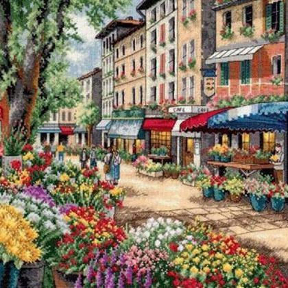 CRAFTS Paris Market Cross Stitch Pa..