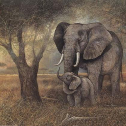 CRAFTS Elephant Mother And Child Cr..