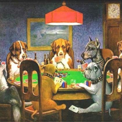 Dogs PLaying Poker Cross Stitch Pat..