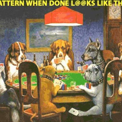 CRAFTS Dogs PLaying Poker Cross Sti..