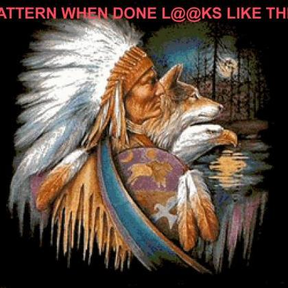 CRAFTS Native American WoLf EagLe C..
