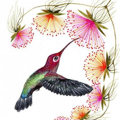 Colorful Humming Bird Cross Stitch ..
