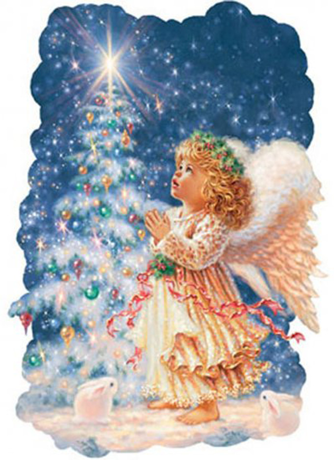 CRAFTS Christmas Angel Cross Stitch Pattern***LOOK***