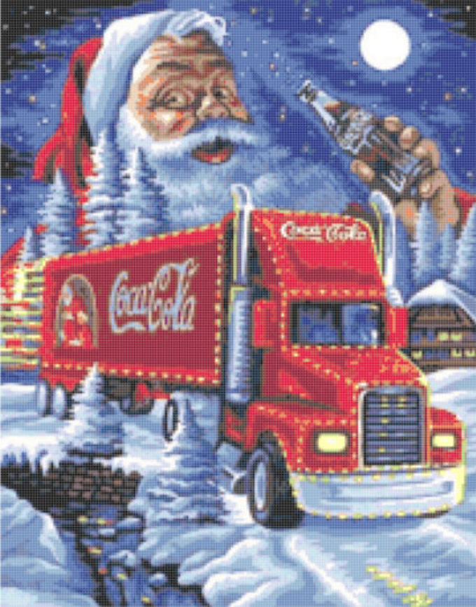 CRAFTS Cola & Santa Christmas Truck Cross Stitch Pattern***LOOK**$4.95