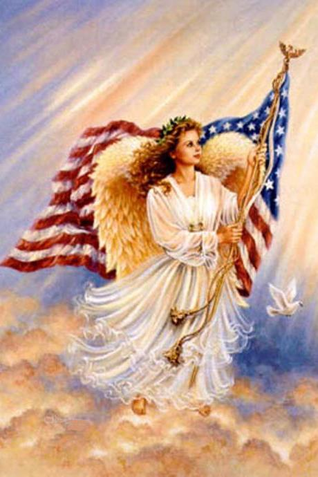 CRAFTS American Angel Cross Stitch Pattern***LOOK***