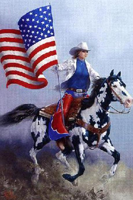 Unique Hand Made pdf Sewing Home Patterns Dmc Hand Made Crafts Rodeo Flag Paint Horse Cross Stitch Pattern***LOOK***