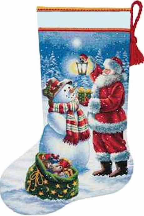 CRAFTS Holiday Glow Stocking Cross Stitch Pattern***LOOK*** PREVIEW ONE OF MY PATTERNS DETAILS BELOW