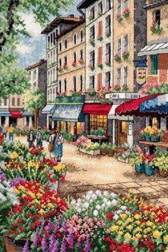 Unique Hand Made pdf Sewing Home Dmc Crafts Paris Market Cross Stitch Pattern***LOOK***