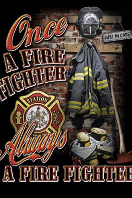 CRAFTS Once A Fire-Fighter Cross Stitch Pattern***LOOK***