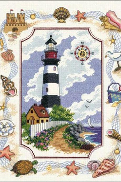 CRAFTS Light House Portrait Cross Stitch Pattern***LOOK***