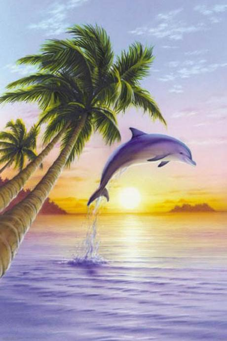 CRAFTS Beautiful Dolphin Cross Stitch Pattern***LOOK***