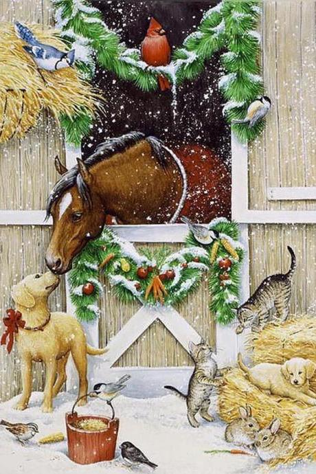 CRAFTS Holiday Cheer Cross Stitch Pattern***LOOK***$4.95
