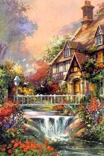 CRAFTS Enchanted WaterFall Cross Stitch Pattern***LOOK***$4.95