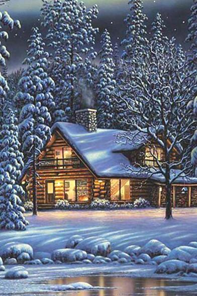 CRAFTS Cabin In The Woods Cross Stitch Pattern***LOOK***Buyers Can Download Your Pattern As Soon As They Complete The Purchase