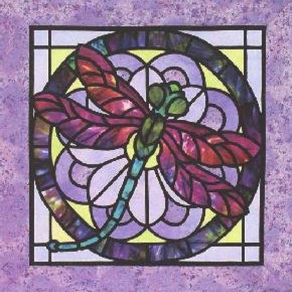 CRAFTS Stain Glass Dragonfly Cross Stitch Pattern ***LOOK**$4.95