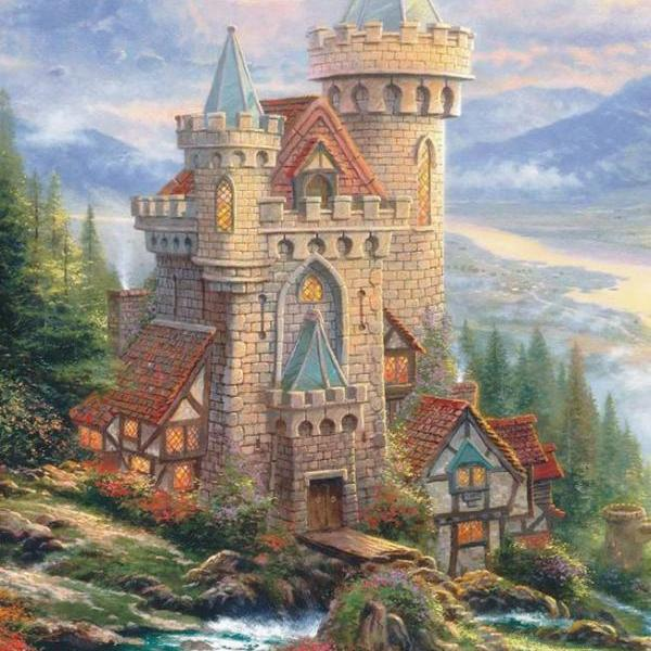 CRAFTS Guardian Castle Cross Stitch Pattern***LOOK***