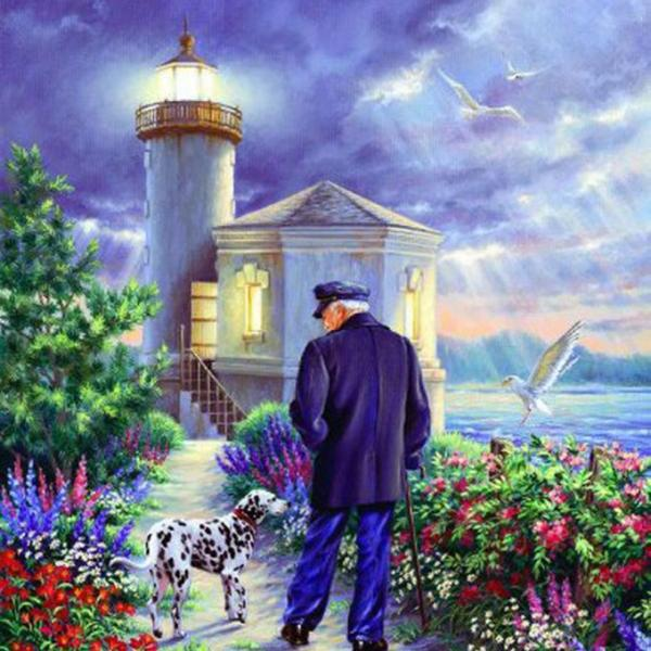 CRAFTS Light House Keeper Cross Stitch Pattern***LOOK***