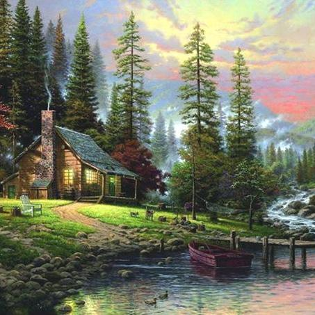 CRAFTS A Peaceful Retreat Cross Stitch Pattern***LOOK***Buyers Can Download Your Pattern As Soon As They Complete The Purchase