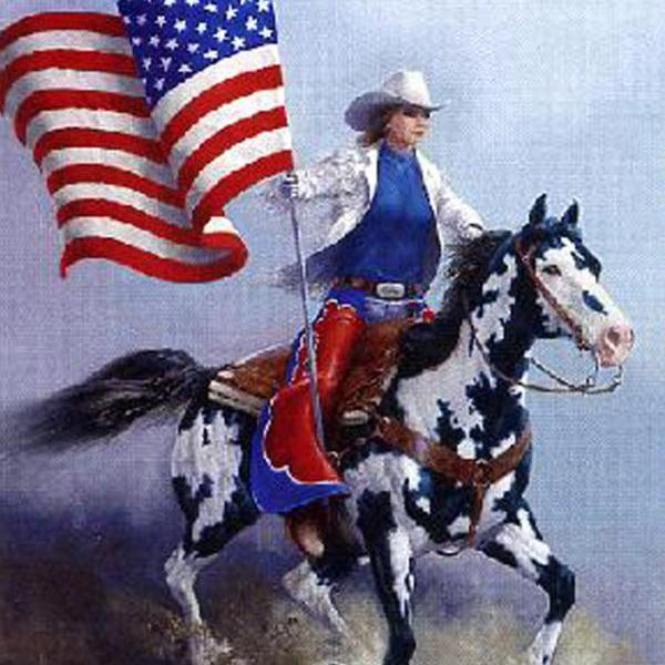 Rodeo Flag Paint Horse Cross Stitch Pattern***L@@K***~~ I SEND WORLD-WIDE ~~Free